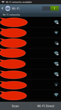 4. check rental WIFI name from Wi-Fi networks